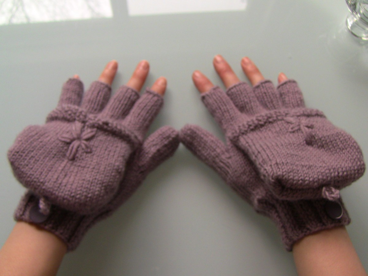 How to make gloves (convertible mitten tutorial)